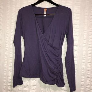 Lucy Long Sleeve Faux Wrap Top